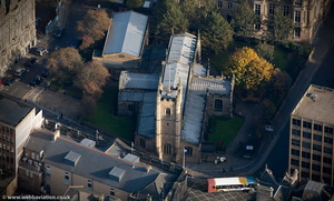 St John the Baptist Church, Newcastle upon Tyne  from the air