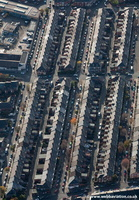 terraced houses in Newcastle upon Tyne  from the air