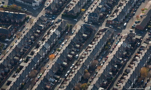 terraced housing  in Newcastle upon Tyne  from the air