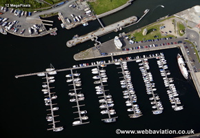 Royal Quays Marina  North Shields North Tyneside Tyne and Wear aerial photograph