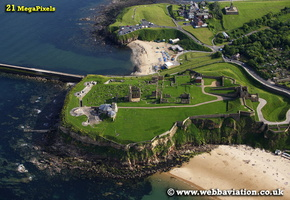 Tynemouth Castle  North Tyneside Tyne and Wear aerial photograph