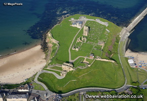 Tynemouth Priory North Tyneside Tyne and Wear aerial photograph