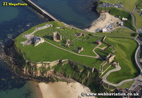 Tynemouth North Tyneside Tyne and Wear aerial photograph
