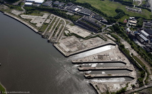 former A&P shipyard Wallsend  Tyneside from the air