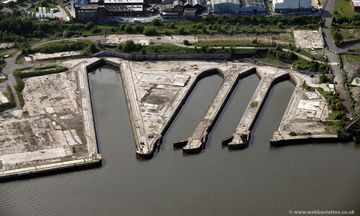 former A&P shipyard Tyneside from the air