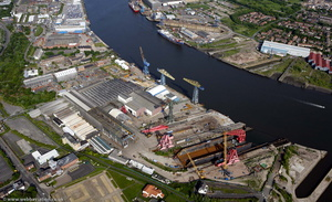 Swan Hunters Shipyard from the air