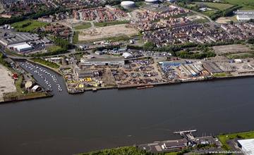 Willington Quay, Wallsend Tyneside from the air