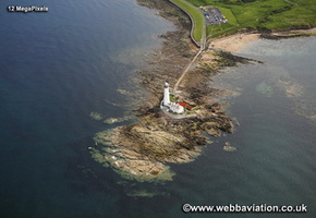 St Mary's Lighthouse Whitley Bay North Tyneside Tyne and Wear aerial photograph