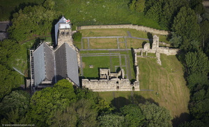 Jarrow Monastery South Shields Tyne and Wear aerial photograph