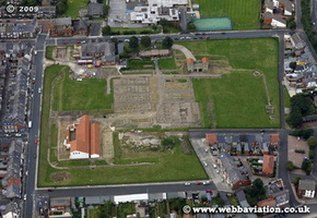 Arbeia Roman Fort South Shields   aerial photograph