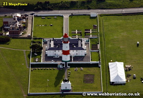 Souter Lighthouse South Shields   aerial photograph