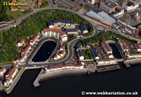 Market Dock South Shields   aerial photograph