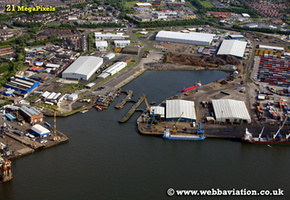 Tyne Dock South Shields   aerial photograph