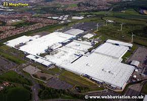 Nissan Factory Sunderland aerial photograph