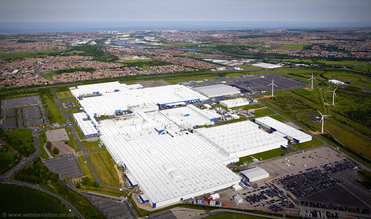 Nissan car plant in Sunderland aerial photograph