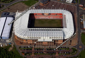 The Stadium of Light  football stadium, Sunderland,  aerial photograph