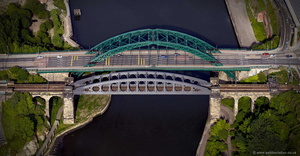 Wearmouth Bridges Sunderland  aerial photograph