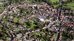 Alcester Warwickshire from the air