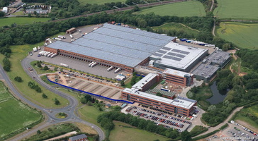 Aldi UK Headquarters in Atherstone aerial photograph