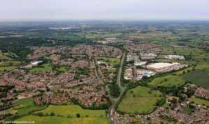 Atherstone   Warwickshire  from the air