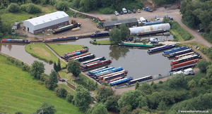 Barry Hawkins marina in Atherstone aerial photograph