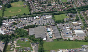 Carlyon Road Industrial Estate Atherstone aerial photograph