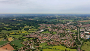 Mancetter Atherstone   Warwickshire  from the air