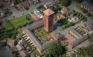 Bedworth water tower   aerial photograph