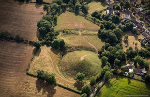 Brinklow Castle aerial photograph
