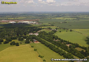 Coombe Abbey Warwickshire aerial photograph