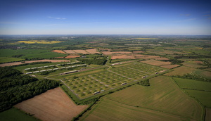 Edgehill Battlefield at  Defence Storage and Distribution Agency (DSDA) Kineton   from the air