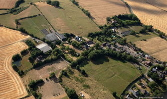 shrunken Medieval village of Flecknoe aerial photograph