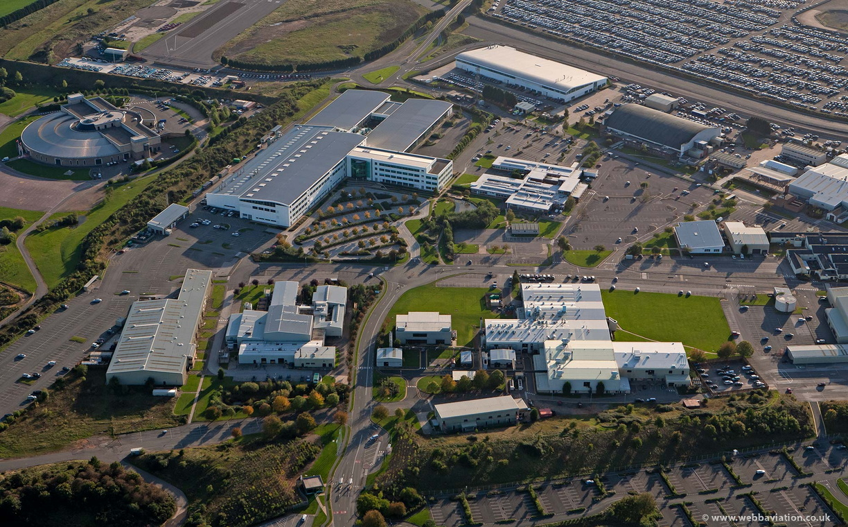 Jaguar Land Rover Gaydon Centre from the air