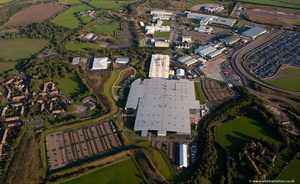 Aston Martin Factory Gaydon from the air