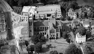 All Saints Church, Leamington Spa  from the air