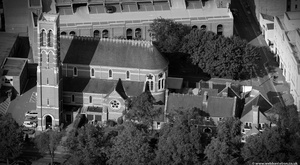 St Peter's Church Leamington Spa from the air