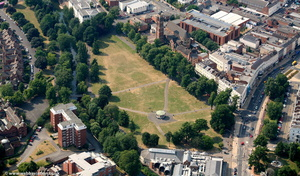 Royal Pump Room Gardens, Royal Leamington Spa  from the air