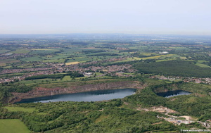 Hartshill Quarry  Nuneaton  aerial photograph