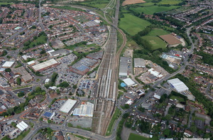 Nuneaton railway station  aerial photograph