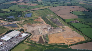 Ling Hall Landfill tip aerial photograph