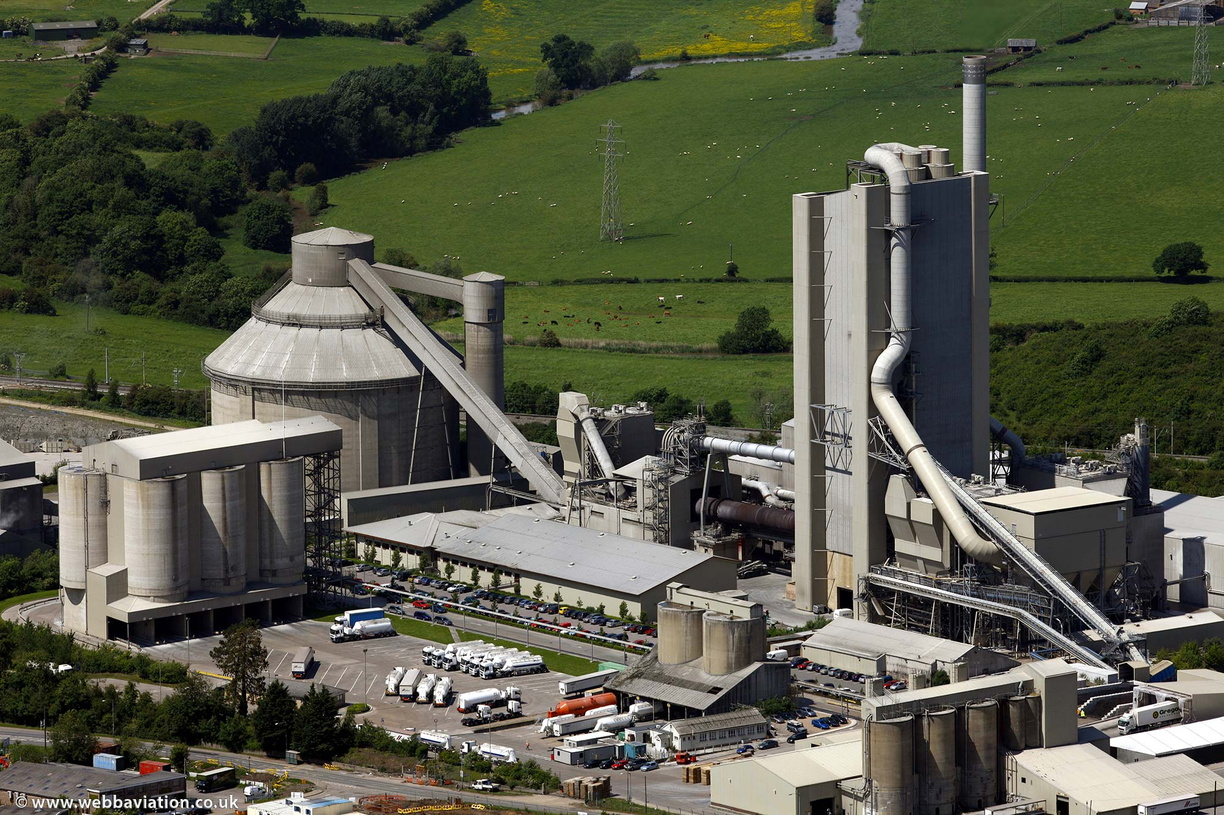 CEMEX Rugby Cement Plant Warwickshire  from the air