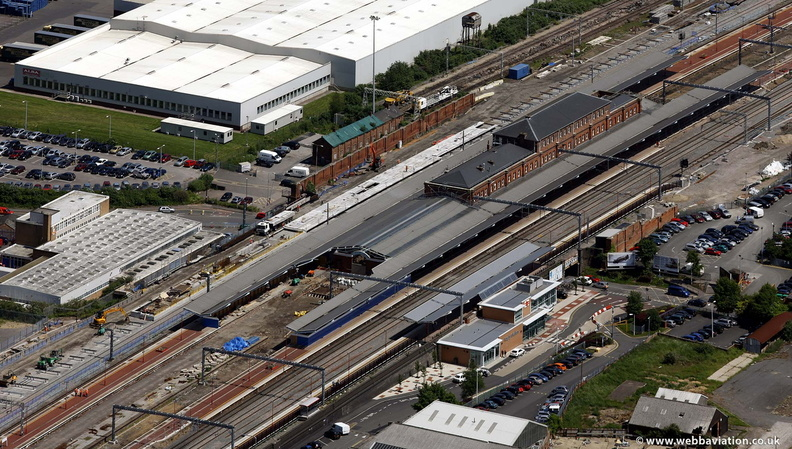 Rugby station  Warwickshire  from the air