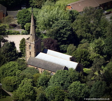 St. Mark's Church Rugby  from the air