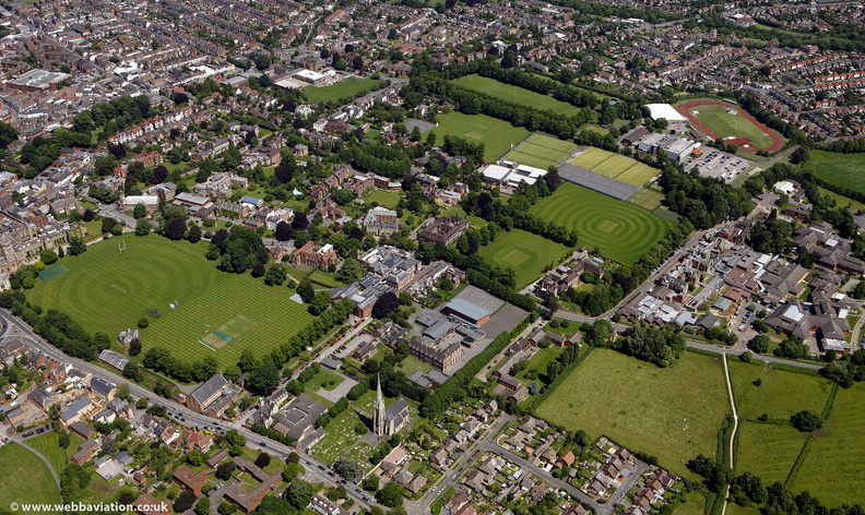 Rugby School ,  Rugby Warwickshire  from the air