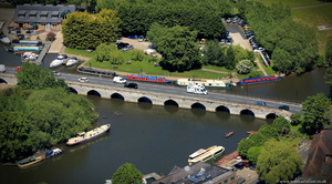 Clopton Bridge  Stratford-upon-Avon  from the air