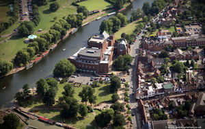 The Royal Shakespeare Theatre (RST)   Stratford-upon-Avon  from the air