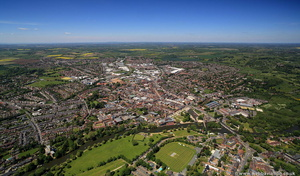 Stratford upon Avon  from the air