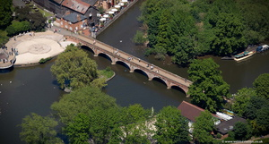 Tramway Bridge Stratford-upon-Avon  from the air