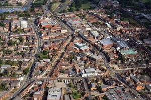 Stratford-upon-Avon town centre  from the air