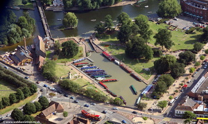 Bancroft Basin  Stratford-upon-Avon  from the air